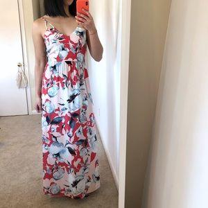 Parker Silk Maxi Dress w/ Open Back